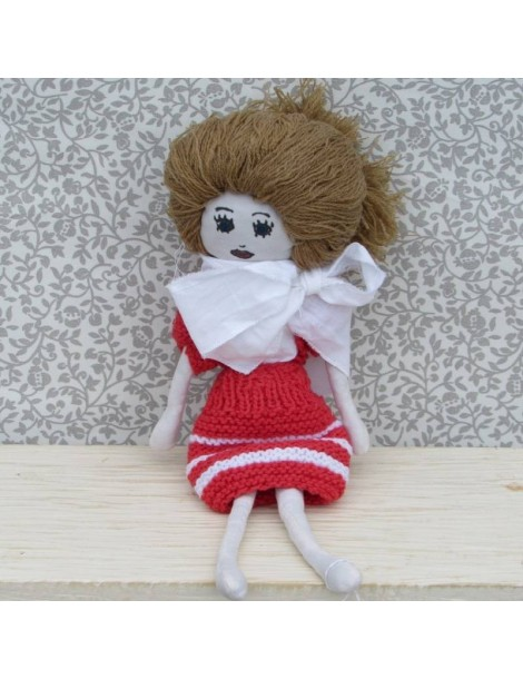 Red Two-Piece Set Fabric Doll