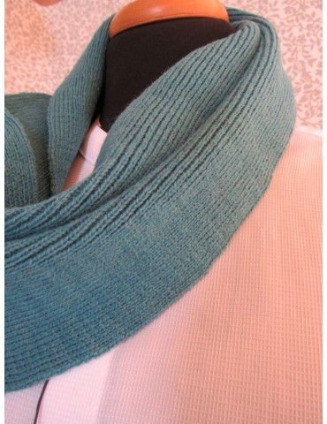 Knitted Scarf - Petrol Green