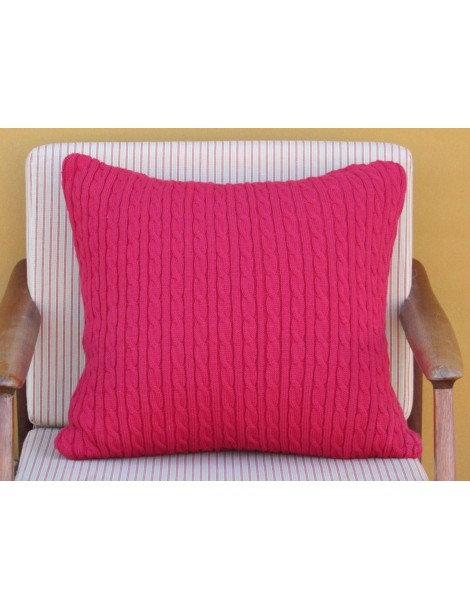 Twisted Cable Cushion - Red