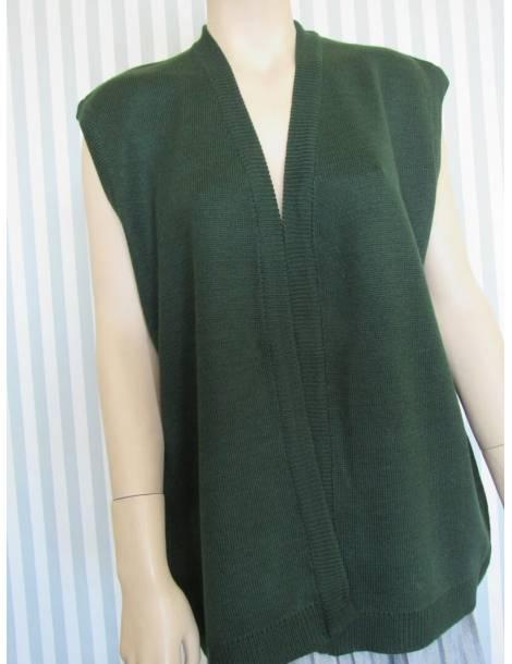 Women's Open  Sleeveless Sweater - Green