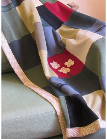 Handmade Patchwork Throw - Polka Dot