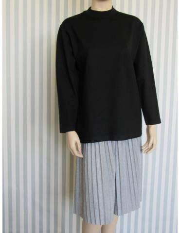 High collar sweater - Black